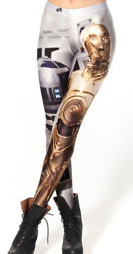 Star Wars R2D2 C3PO Leggings Small To Medium