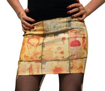 Kreepsville 666 Anatomy Notes Mini Skirt Small