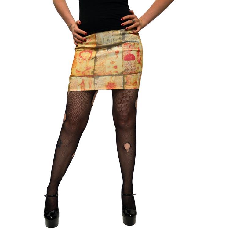 Kreepsville 666 Anatomy Notes Mini Skirt