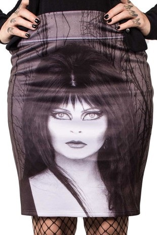 Kreepsville 666 Elvira Glam Witch Pencil Skirt Small