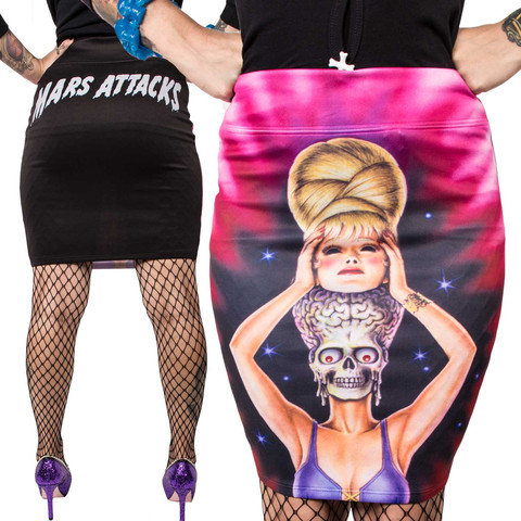 Kreepsville 666 Mars Attacks Spy Girl Pencil Skirt Small
