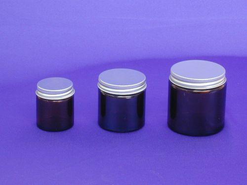 Amber Glass Jar & Metalise Closure 30ml