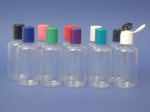 Clear Boston Round Plastic Bottle & Green Radius Closure 100ml