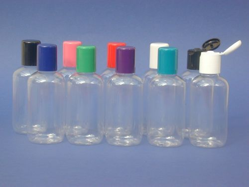 Clear Boston Round Plastic Bottle & Black Flip Top Closure 100ml