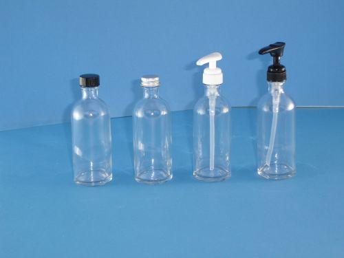 Clear Fleur Glass Bottles/Metalise Closure 100ml