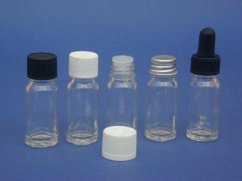 Clear Glass Bottle, Insert & Black Closure 10ml (2616)