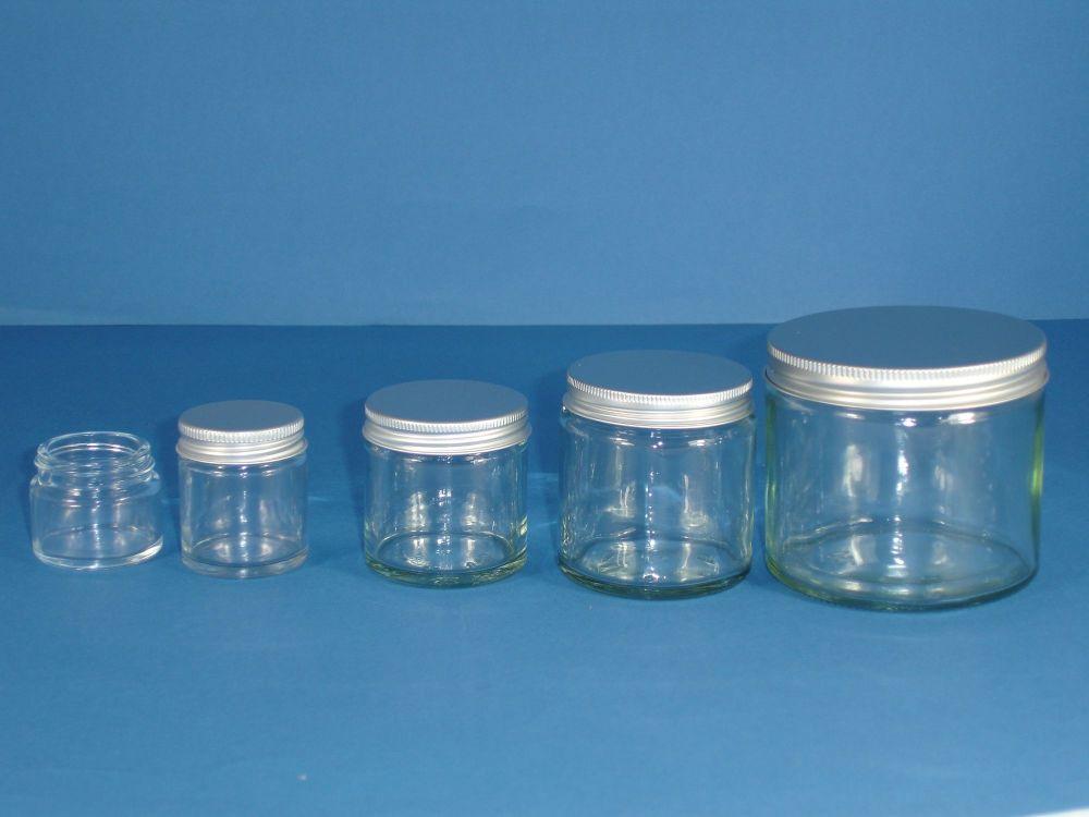 Clear Glass Jar & Metalise Closure 60ml