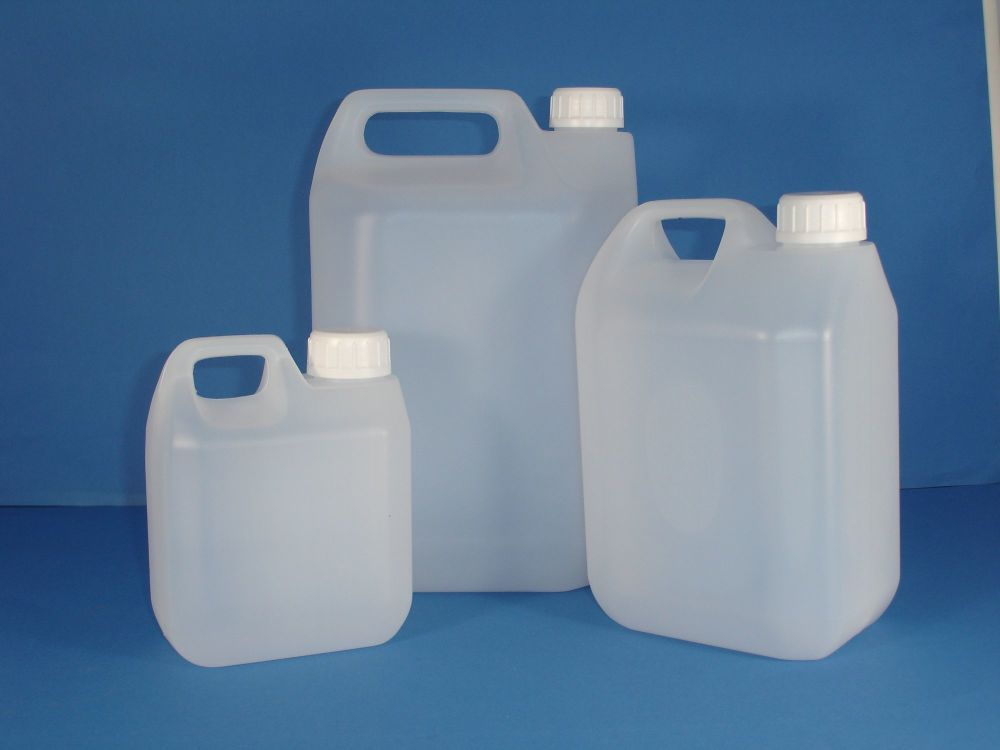 Natural Plastic Jerry Can & White Closure 5Lt