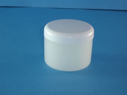 Frost Plastic Jar/white Closure 250ml