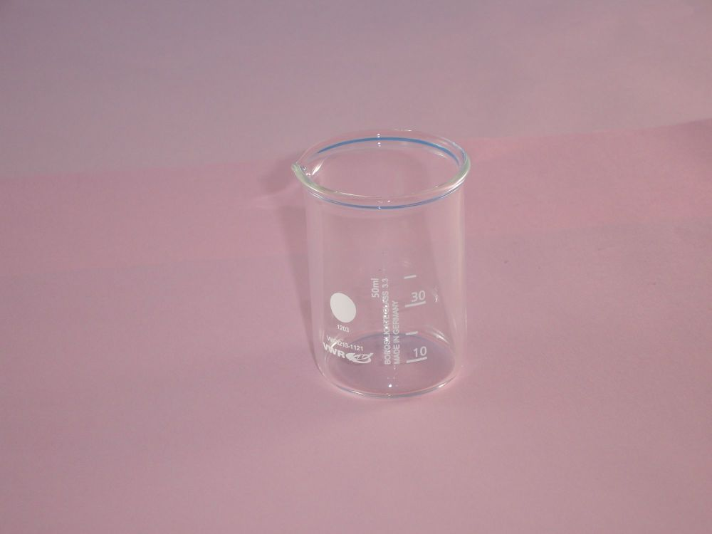 Beakers (glass)  50ml