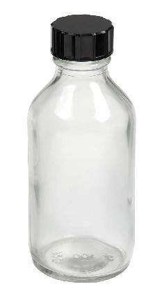 clear glass winchester bottle