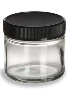 clear glass jar