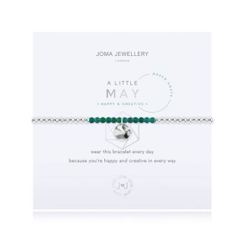 "Joma Jewellery ""A little Birthstone May Green Agate"""