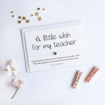 Little Wishes - For My Teacher Bracelet / Breichled 35 cm