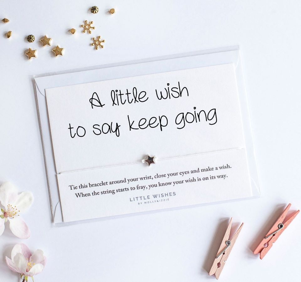 Little Wishes - Keep Going Wish Bracelet / Breichled