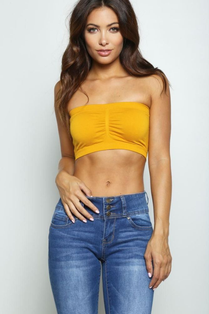 fdb346ca69 Mustard Tube Top Size  One Size