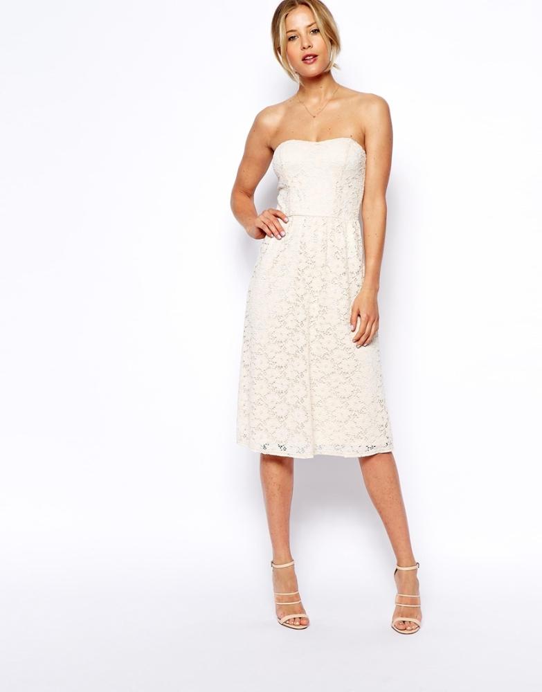 b0e680e2f607 D002 - Tube Top Midi Dress - Size 14