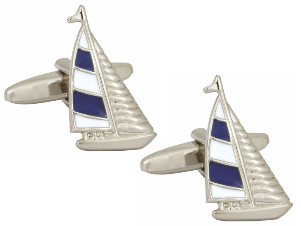 Yacht Cufflinks - Blue