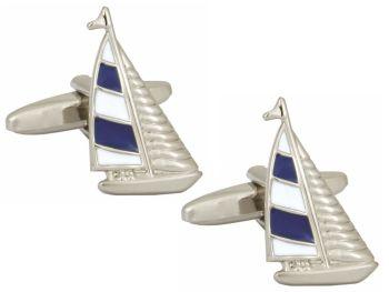 Yacht Cufflinks - Blue