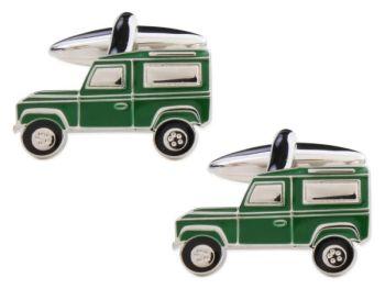 Landrover Cufflinks - Green