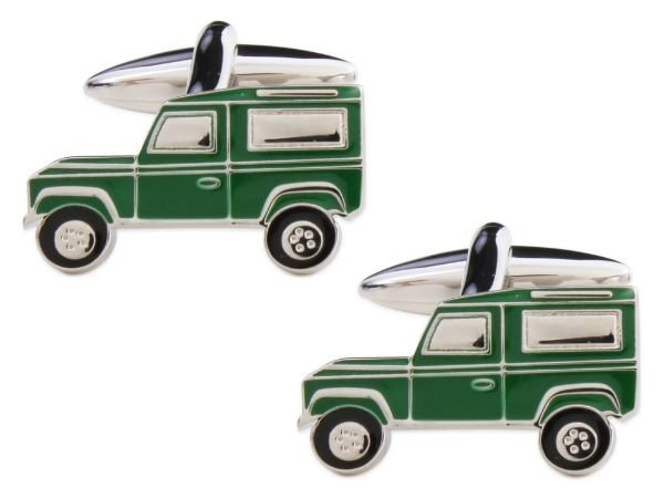 Green Landrover Cufflinks