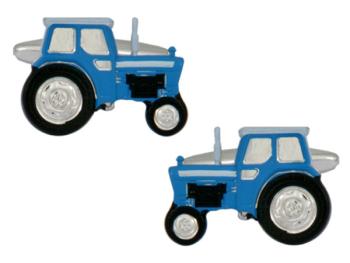 Tractor Cufflinks - Blue
