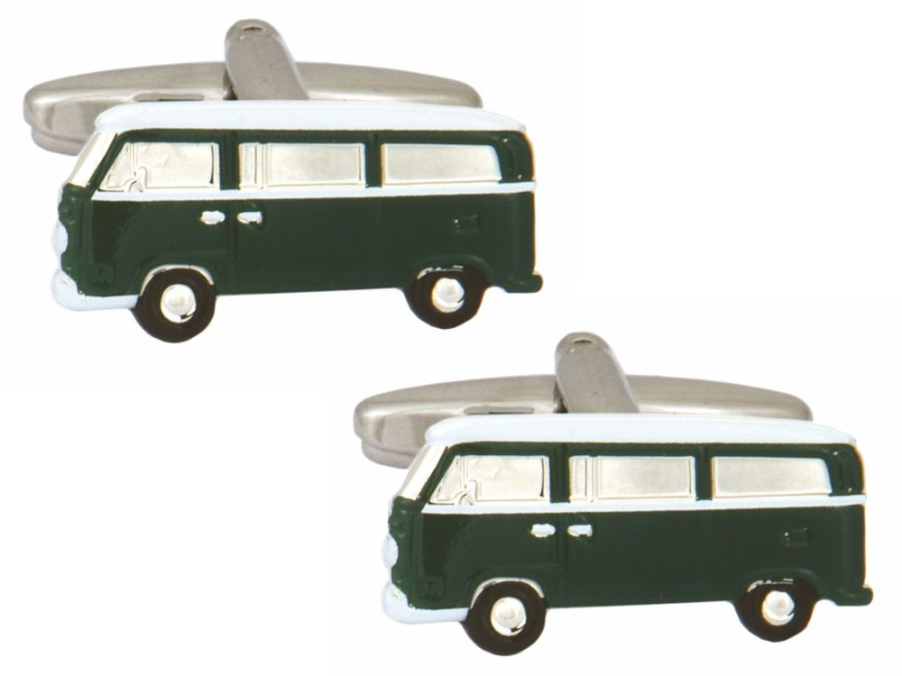 Green Campervan Cufflinks