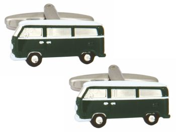 Campervan Cufflinks - Green