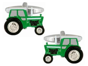 Tractor Cufflinks - Green