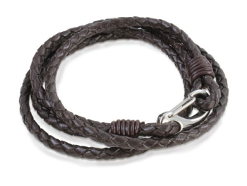 Brown Leather Double Wrap Bracelet