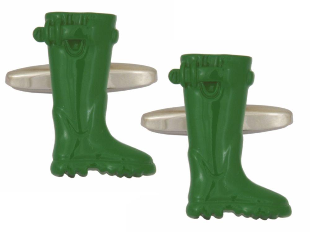 Green Wheelie Cufflinks