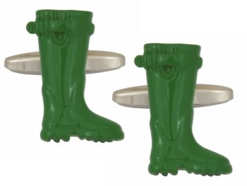 Green Welly Cufflinks