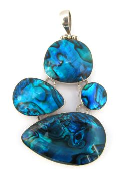 Abalone Blue 4 drop pendant