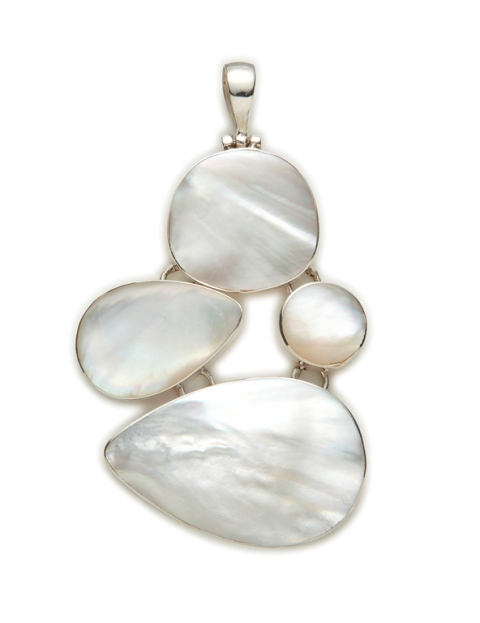 Mother of Pearl 4 drop pendant
