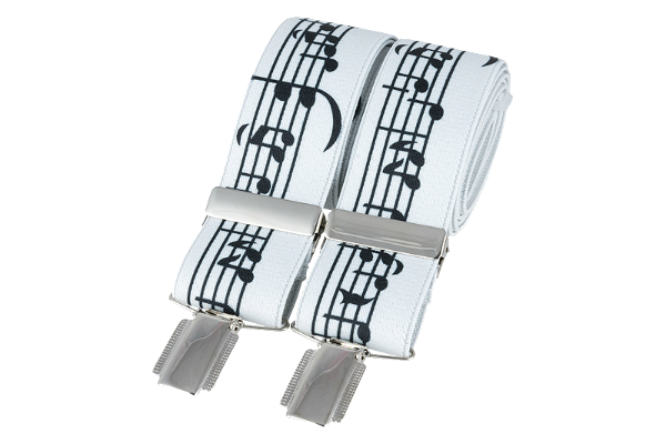 Black and White Musical Braces