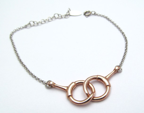 Rose Gold Interlocking Loop Bracelet