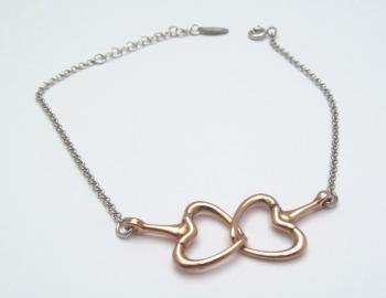 Rose Gold Interlocking Heart Bracelet