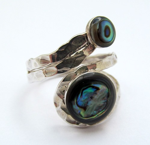 Silver Abalone Wrap Ring