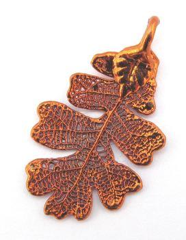 Copper Oak Leaf Pendant - Small