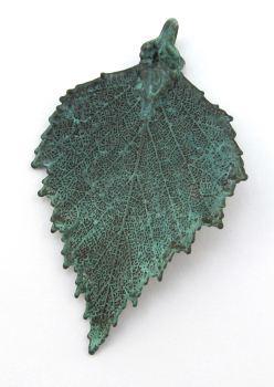 Green Copper Birch Pendant - Medium