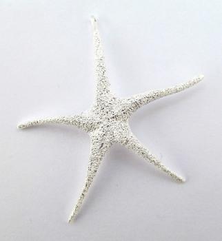 Silver Glitter Starfish Pendant