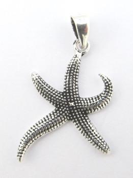 Small Silver Starfish Pendant