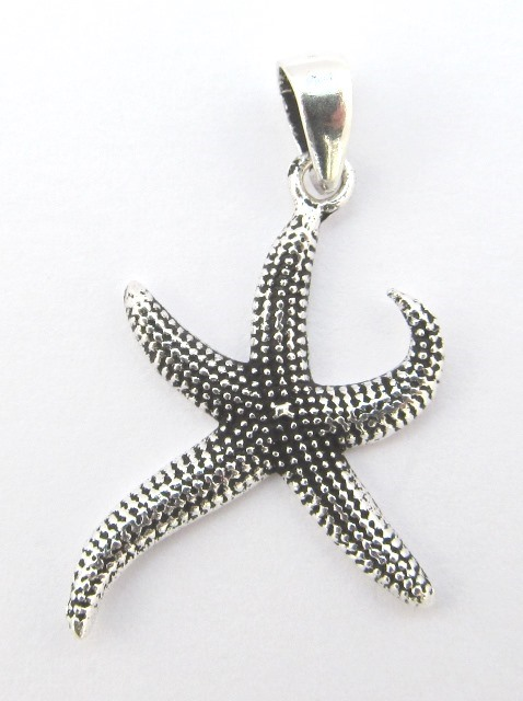 Small Silver Starfish Pendant