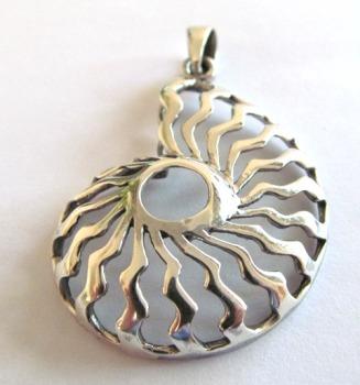 Silver Nautilus Pendant