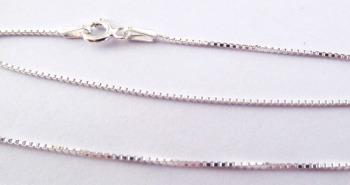 """Silver Curb Chain - 16"""""""