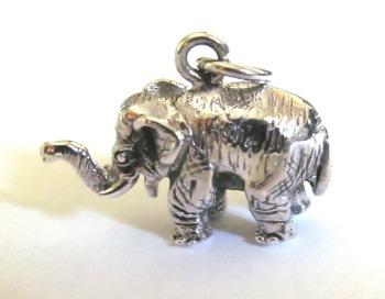 Silver Small Elephant Pendant