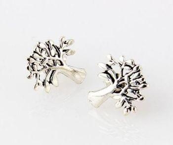 Silver Mulberry Tree Earrings