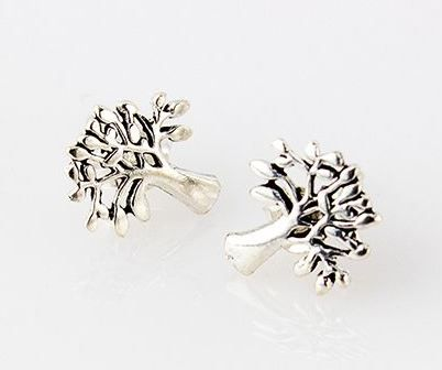 Silver Mulberry Tree Earrings