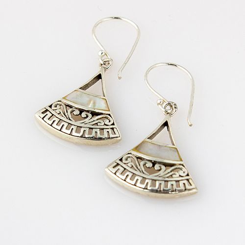 Silver Egyptian Style Earrings