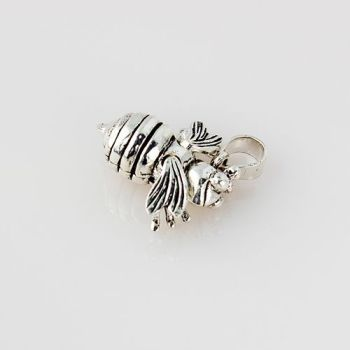 Silver Bumble Bee Pendant